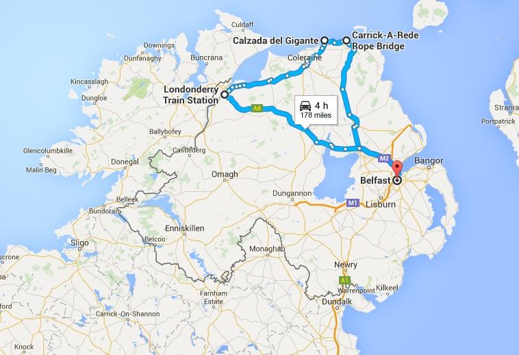 itinerario irlanda del norte