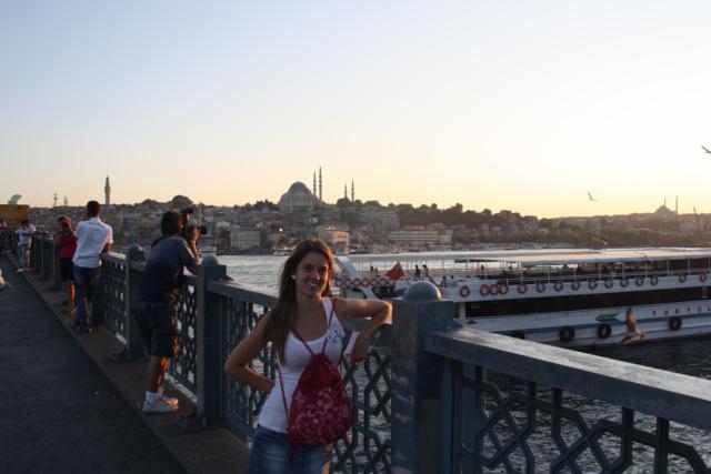 puente galata con vistas a Suleymaniye estambul
