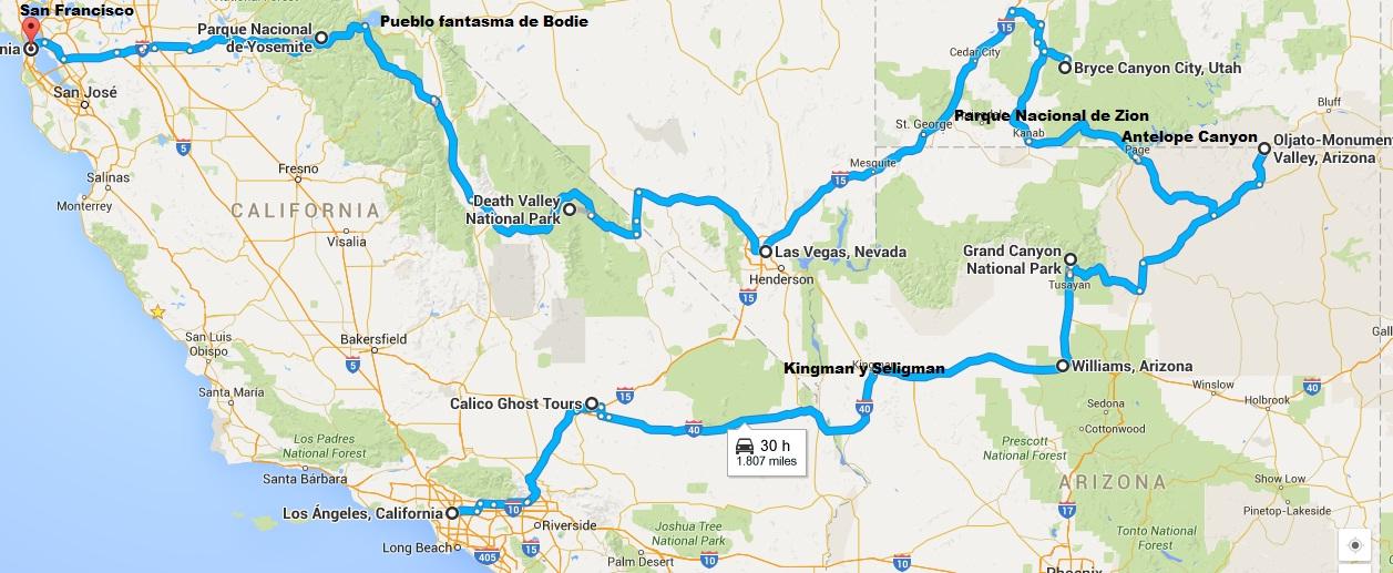 Road trip por la costa Oeste de EEUU y Riviera Maya