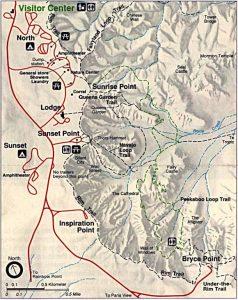 mapa bryce canyon