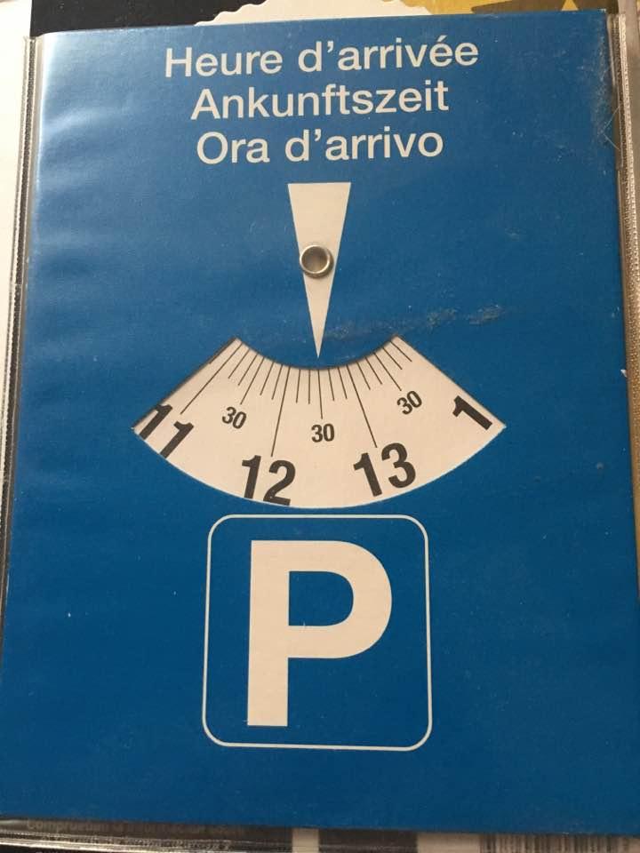 Tarjeta de estacionamiento
