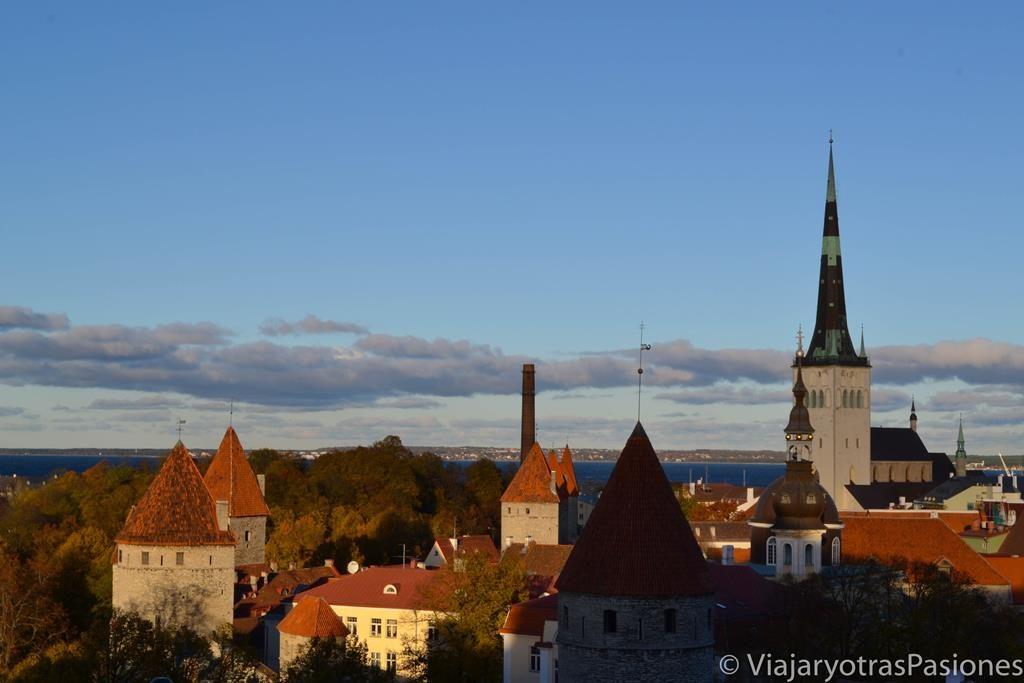 Vista desde la colina de Toompea, Tallin, Estonia