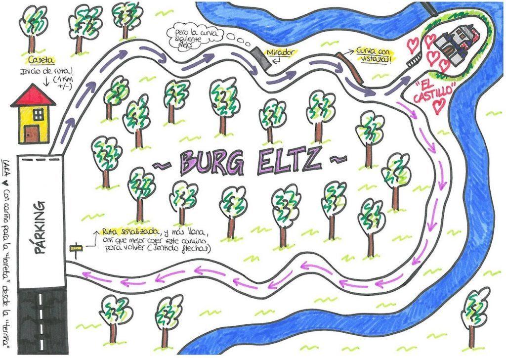 mapa burg eltz