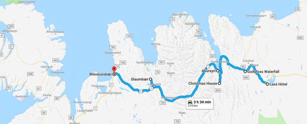 recorrido por el norte de Islandia